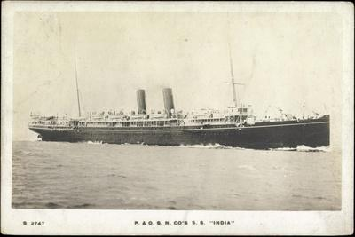 P and O.S.N. Co's S.S. India, Steamer