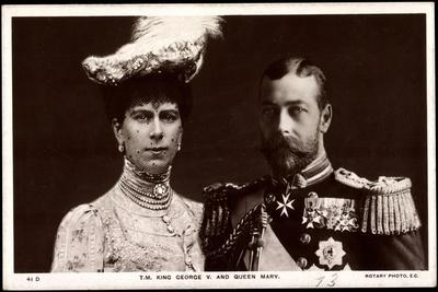 King George V and Queen Mary of England
