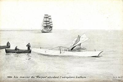 Les Marins Du Harpon Abordent Aeroplane Latham
