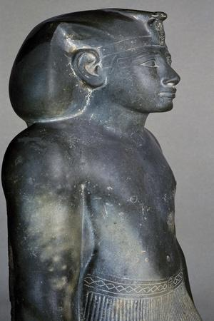 Amenhotep II, Schist Statue, Reign of Amenhotep II, from Courtyard of Cachette, Temple of Amun