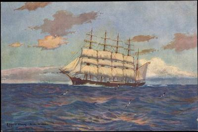 Künstler Schmidt, R., Viermaster, Segelschiff Laeisz