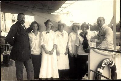 Foto Passagiere Auf Einem Britischen Dampfschiff