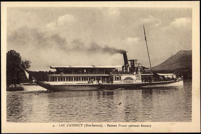 Dampfer France Auf Dem Lac D'Annecy, Haute Savoie