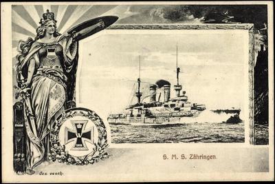 Passepartout S.M.S. Zähringen,Deutsches Kriegsschiff