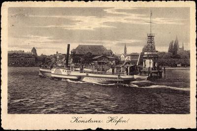 Konstanz Bodensee, Salondampfer Schweiz, Hafen