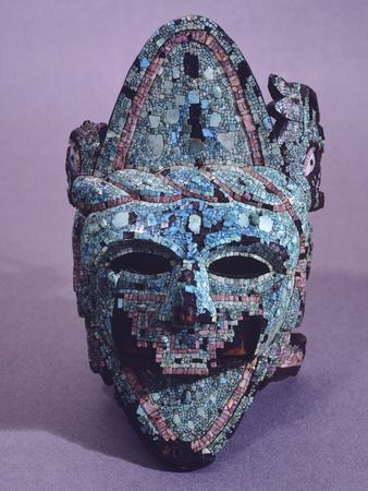 Aztec Mask Decorated with Mosaic