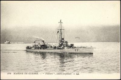 Französisches Kriegsschiff, Fanfare,Contre Torpilleur