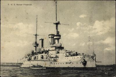 Blick A. Deutsche Kriegsschiff Sms Kaiser Friedrich