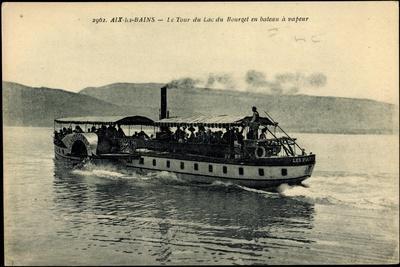 Aix Les Bains, Lac Du Bourget, Dampfer Hautecombe