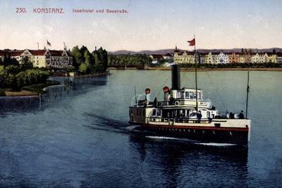 Konstanz Bodensee, Inselhotel Und Seestraße,Dampfer