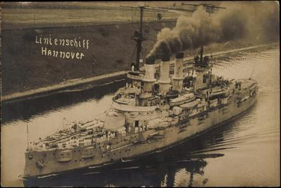 Foto Kriegsschiffe Deutschland,Linienschiff Hannover