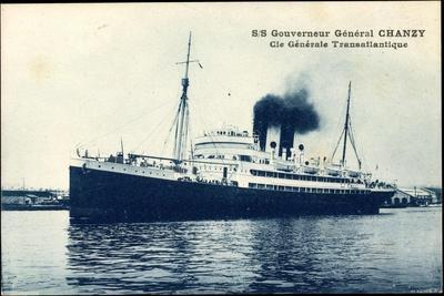 French Line, Cgt, Gouverneur Général Chanzy, Dampfer