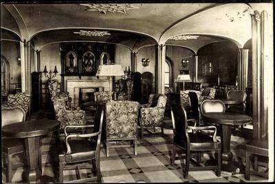 Foto Hapag, Dampfer New York, Rauchsalon, 1 Klasse