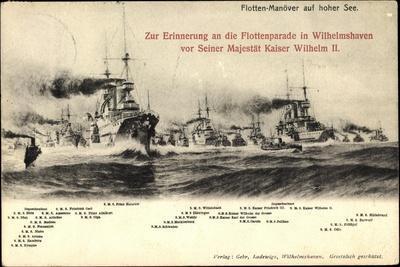 Wilhelmshaven, Flottenparade, Viele Kriegsschiffe