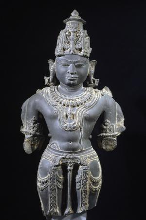 Vishnu, Blue Shale Statue from Gwalior, Mahya Pradesh, India