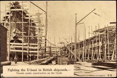 Britisches U Boot in Der Werft