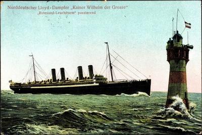 Dampfer Ksr Wilhelm D Große, Lloyd Bremen, Leuchtturm