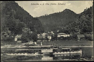 Schmilka Bad Schandau, Dampfer Stadt Wehlen, Ort