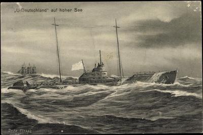 Künstler Ilabad, U Boot Deutschland Auf Hoher See