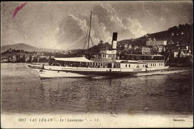 Lac Leman, Dampfer Le Lausanne, Vapeur, Ville