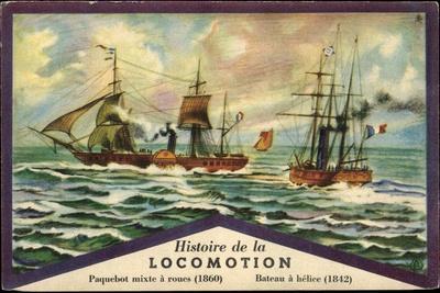 Histoire De La Locomotion, Segelboote, 1860 Und 1842