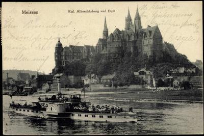 Meißen, Kgl. Albrechtsburg Und Dom, Dampfer Bodenbach