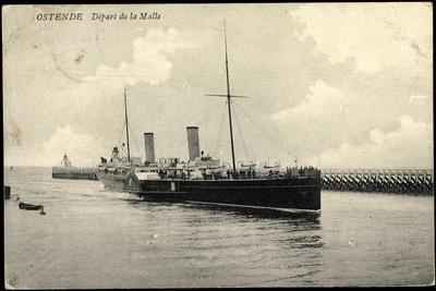 Ostende Westflandern, Départ De La Malle, Dampfer