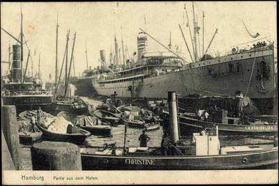 Hamburg, Hafen, Dampfer Christine and I.H. Königslieb