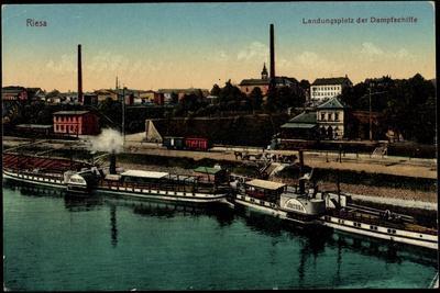 Riesa, Landungsplatz D. Dampfschiffe,Dampfer Libussa