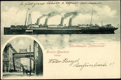 Stettin Bredow, Vulcan, Hapag, Dampfer Deutschland