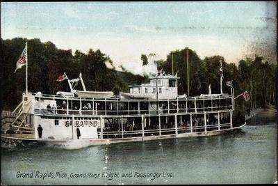 Grand Rapids Michigan, Grand River Freight, Dampfer