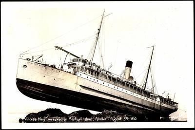 Alaska Usa, Dampfer Princess May,Schiffsunglück,1910
