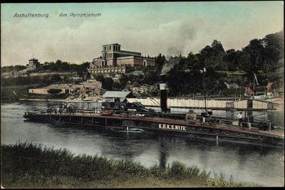 Aschaffenburg Unterfranken, Am Pompejanum, Schiff K B K S No IV
