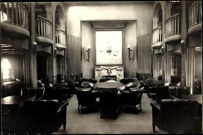 Foto Hapag, Dampfer Albert Ballin, Rauchsalon, 1 Kl.