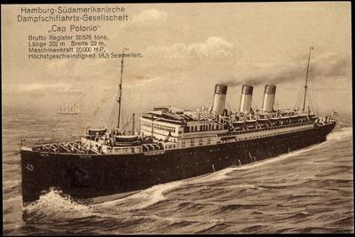 Hapag, Cap Polonio, Transatlantik, Dampfschiff