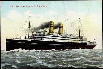 Hapag, Lijn, S.S. Rotterdam, Dampfschiff, Transatlantik