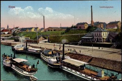 Riesa Elbe, Landungsplatz, Dampfer Riesa