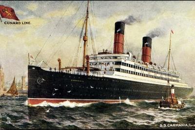 Künstler Cunard Line, S.S. Carmania, Dampfschiff