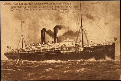 Dampfer S.S. Korea, Pacific Mail Steamship