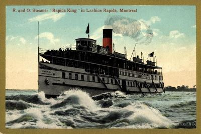 R and O, Steamer Rapids King, Lachine Rapids, Montreal