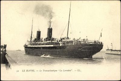 Le Havre, Le Transatlantique La Lorraine, Dampfer