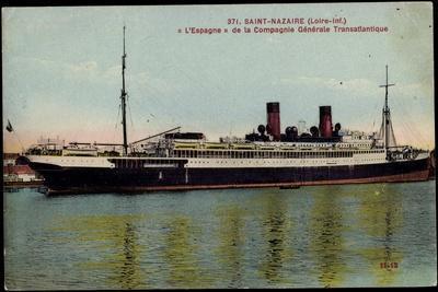 Saint Nazaire, L'Espagne, Sgtm, Dampfschiff