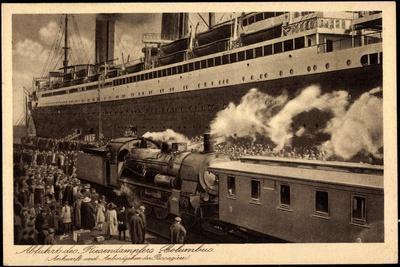 Norddeutscher Lloyd Bremen, Dampfer Columbus, Bahn