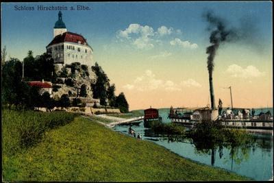 Hirschstein Elbe, Schlossblick, Dampfer Bohemia