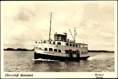 Foto Kiel,Motorschiff Heikendorf in Fahrt,Passagiere
