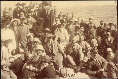 Foto Svea Johnson Line, Dampfer Odin, Passagiere