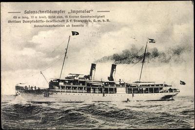 Dampfer Imperator, Stettiner Dampfschiffahrtsges.