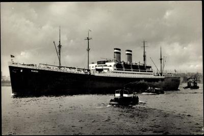Hapag, Dampfschiff Hansa, Schlepper, Hafenblick