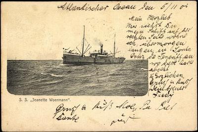 S.S. Jeanette Woermann, Frachtschiff, Dampfer