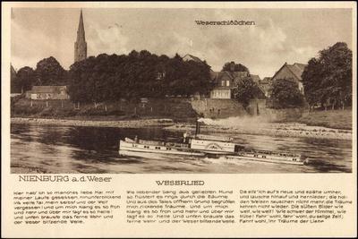 Nienburg Weser, Dampfer, Weserschlößchen, Lied